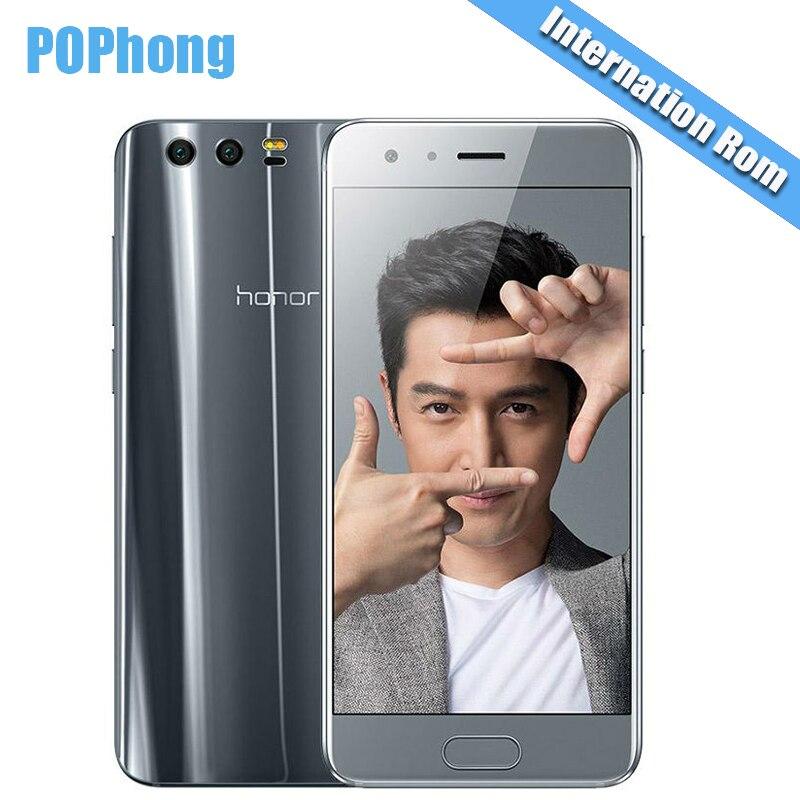 bilder für Internationalen Firmware Huawei Honor 9 4G/6G RAM 64G/128G ROM Octa-core Kirin 960 Handy 5,15 ''Android 7.0 Schnellladung