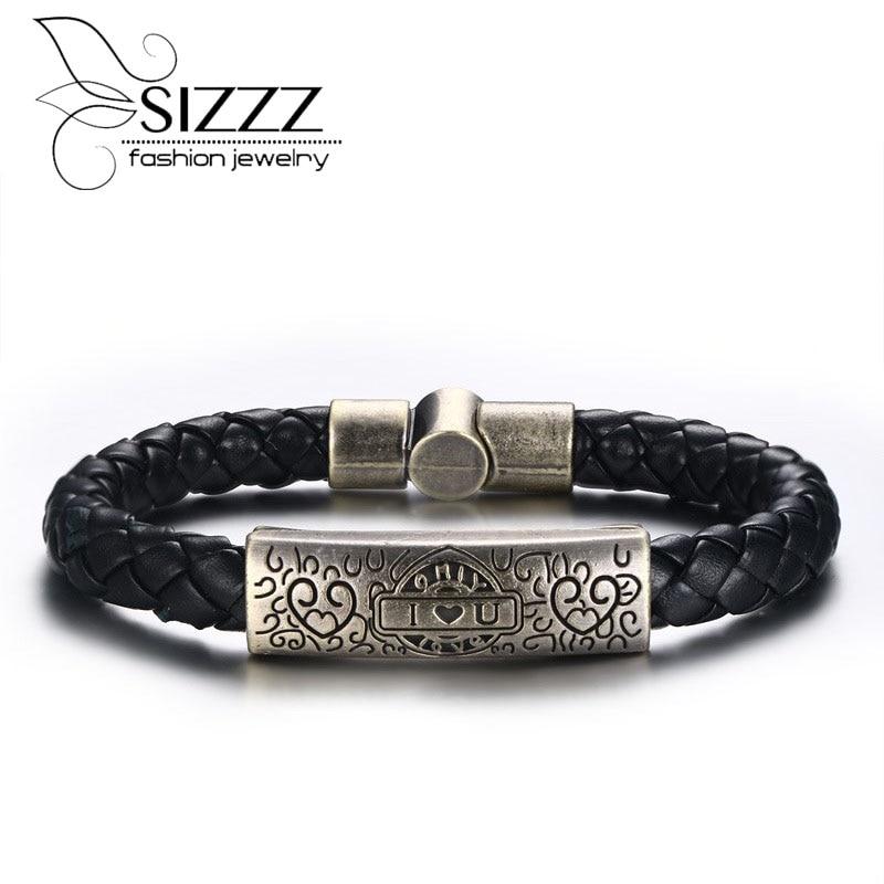 SIZZZ Bracelet Alloy PU...