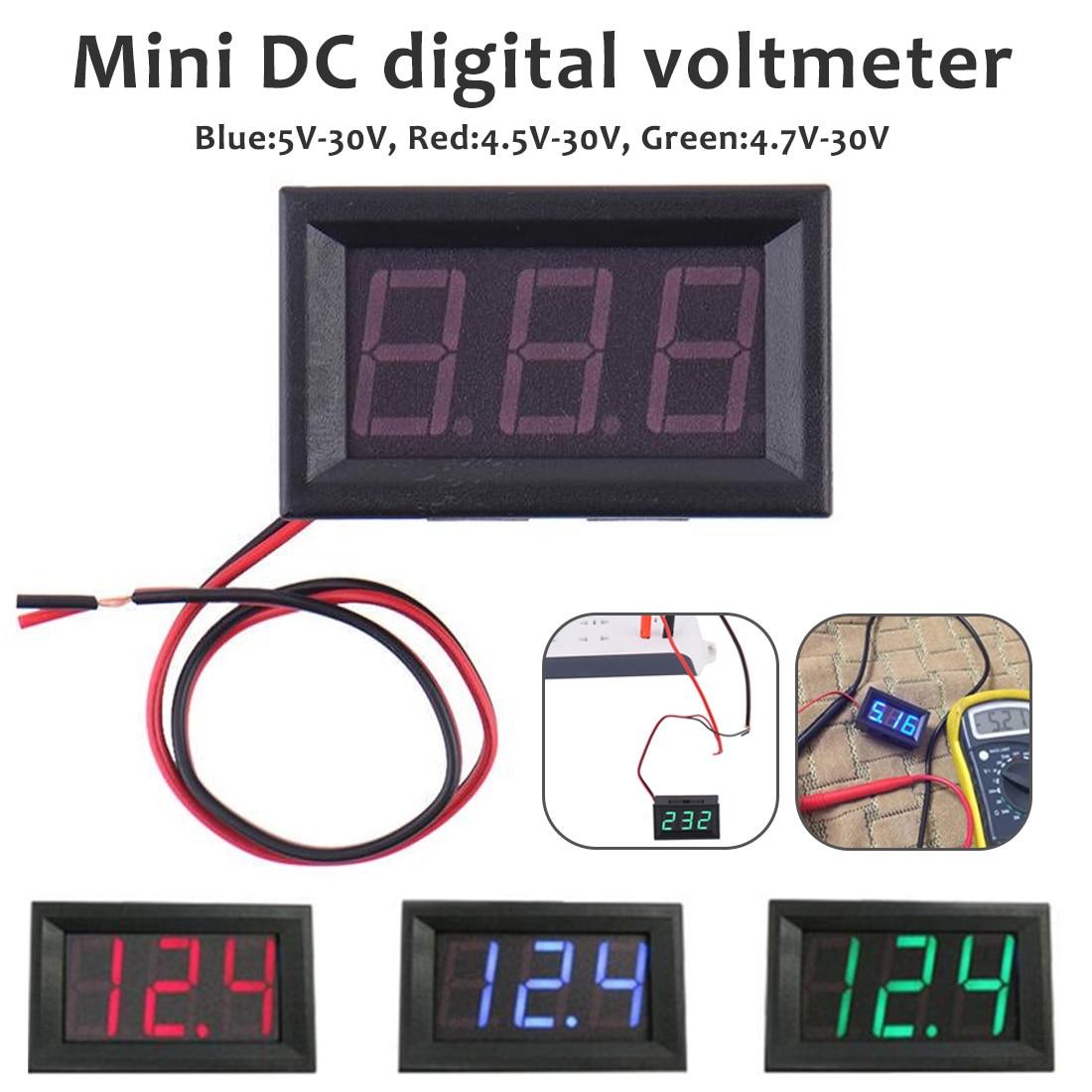 Mini Digital Voltmeter Ammeter 4.5V To 30.0V DC Amp Volt Voltage Current Meter Tester Detector 0.56