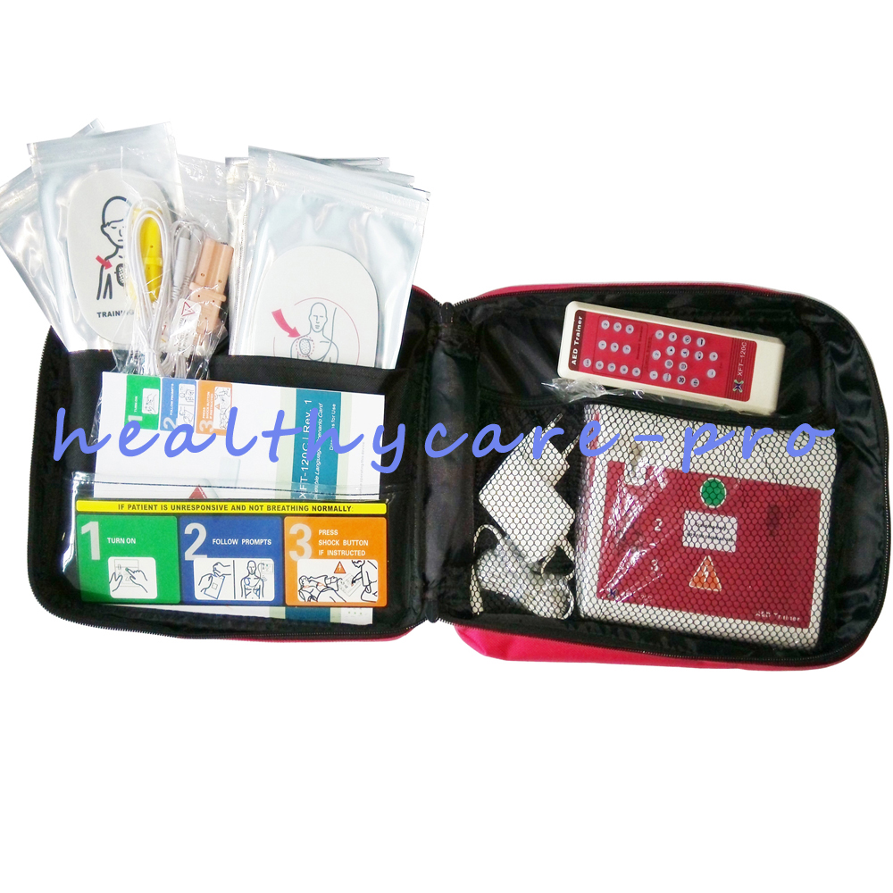 New AED Simulation Trainer Emergency Situation AED Training Machine For Fist Aid CPR Practice In English And Spanish xft 120c aed simulation defibrillator trainers simulation aed m defibrillation apparatus aed defibrillator wbw400