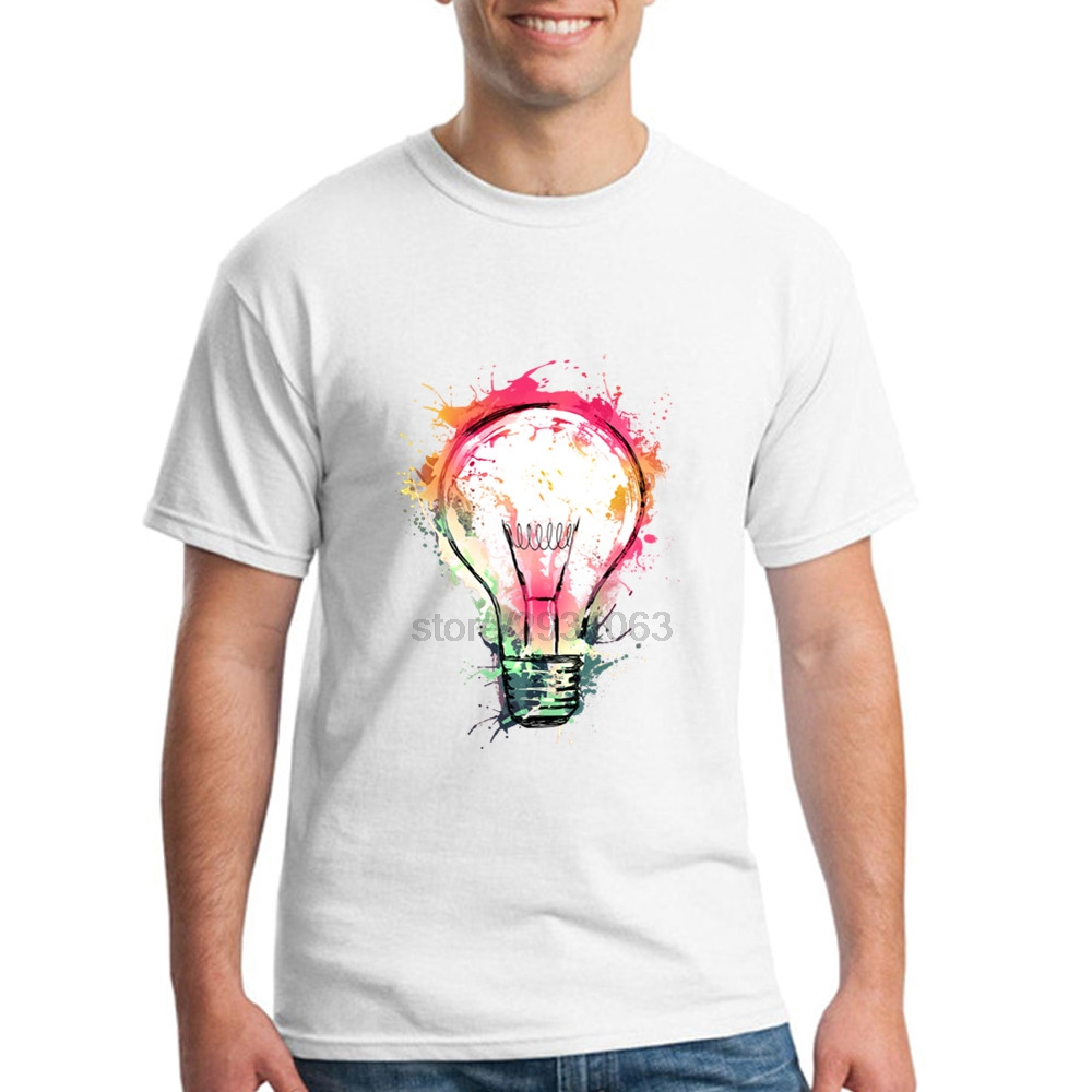 White T Shirt Design Ideas t shirt design inspiration all you need to know and more Mens Short Sleeved Clothing Splash Ideas Design New Color Bulb O Neck Tees Mens Crew Neck Classical Novelty T Shirts