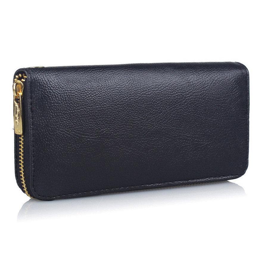 Fashion Women Lichee Pattern Road Wallet PU Leather Coin Bag Purse Long Phone Bag Clutch Female Purse Handbag carteira femininaS