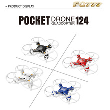 FQ777 – 124 RC Drone Dron 2.4G 4CH 6-Axis Gyro Remote Control Pocket Quadcopter Headless Mode RTF Aircraft Toy Kids Xmas Gifts