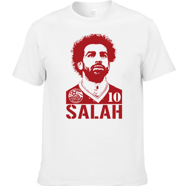 b5e3725357f 2018 Summer short sleeve T-shirt Mohamed Salah Egypt soccer team World cup  Player jersey Tees men t shirt