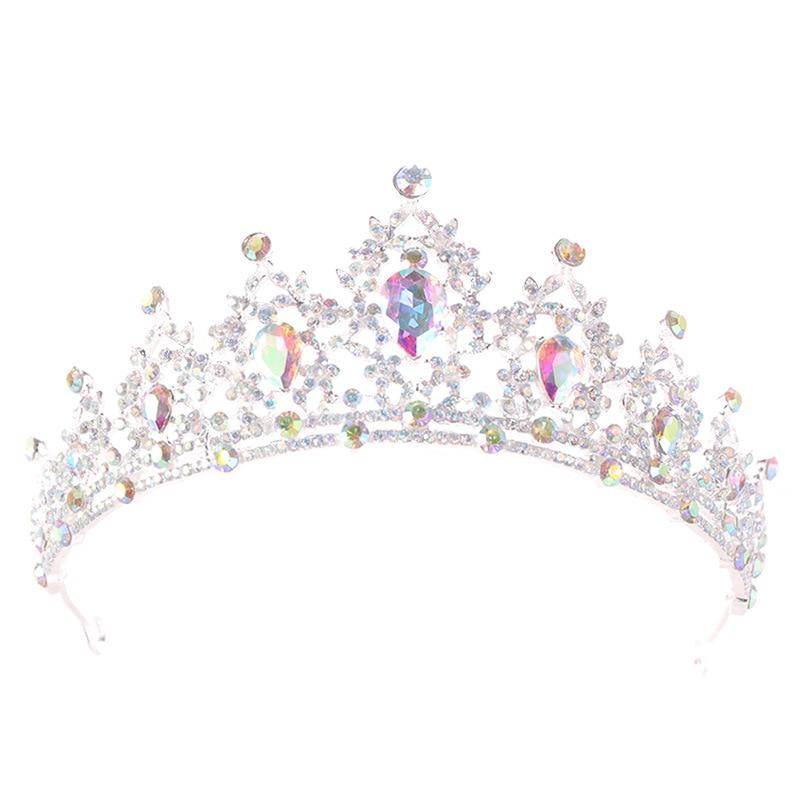 Bride Tiara Headbands Hair-Accessories Crown Rhinestones Crystal Wedding Queen Pageant-Diadem