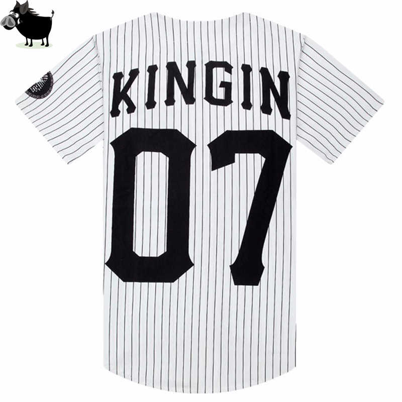 bb23efd2675 ... Man Si Tun Summer Style Mens Tees Fashion Streetwear Hip Hop baseball  jersey striped shirt Men ...