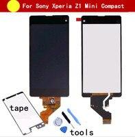 100% Thử Nghiệm Đen Đối Với Sony Xperia Z1 Mini Nhỏ Gọn D5503 M51W LCD Hiển Thị Cảm Ứng Screen Digitizer Hội + Keo + Công Cụ sửa chữa