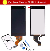 100 Tested Black For Sony Xperia Z1 Mini Compact D5503 M51W LCD Display Touch Screen Digitizer