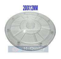 Smooth Quite Durable 200X12MM 360 Degree Manual Swivel Acrylic Display Stand Rack Swivel Plate With Transparent