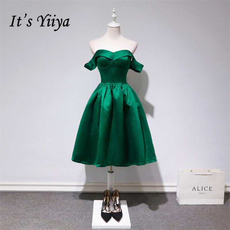 It's YiiYa 2018 Fashion Designer Green Boat Neck Zipper   Cocktail     Dresses   Sleeveless High Quality Vintage Party   Dress   LX694