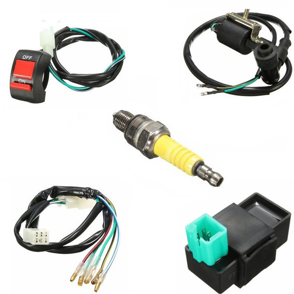 Wiring Loom Switch Coil Cdi Spark Plug Kit For 110cc 125cc 140cc Pit Bike Stock In Plugs Glow From Automobiles Motorcycles On