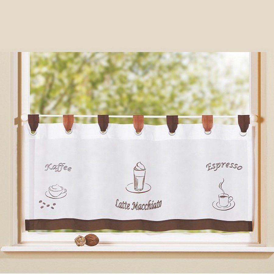 European style bistro window curtain fancy tap top kitchen curtain ...