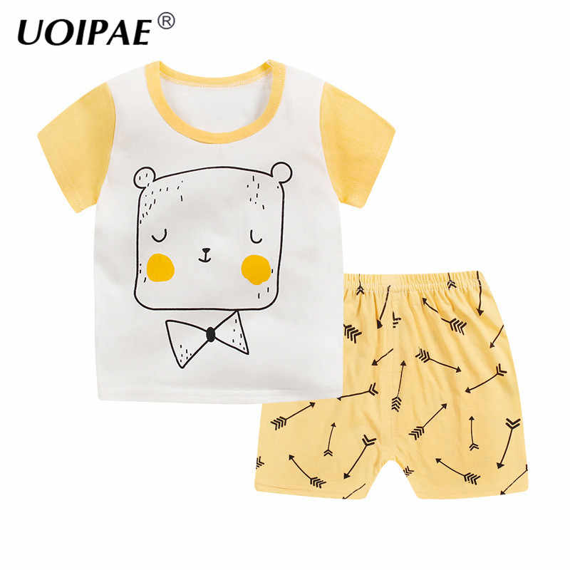 65d59a2b39c9 ... Summer Baby Boys Girls Clothing Sets Cotton Casual Short Sleeve T-shirt+ shorts 2pcs ...