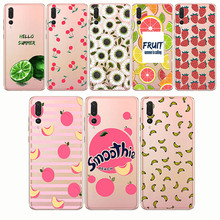 peach banana cherry lemon pattern  soft shell Soft Phone Case Cover for huawei p8 p9 p10 p20 lite plus pro