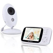 Babyphone vidéo sans fil XF808, 3.5 pouces, moniteur de sécurité LCD, babyphone à vision nocturne pour le sommeil, nounou