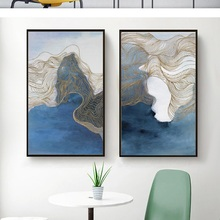 Modern minimalist decorative painting Nordic abstract living room new Chinese sofa background wall triple ink