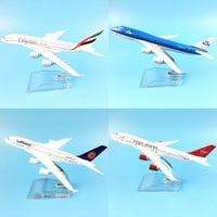 16 см 787 A380 747 777 авиакомпаний металлического сплава модели самолет игрушечные колеса самолет Коллекция подарков на день рождения настольная ...