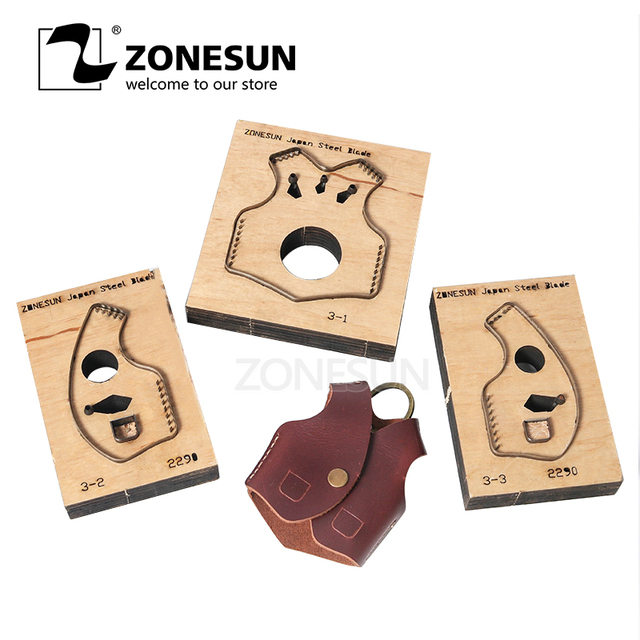 ZONESUN V2 key fob vest shape key cover leather cutting die Japan steel Blade cutter mold DIY laser knife die cutting machine