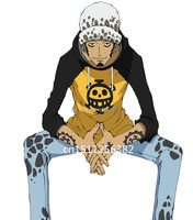 Free Shipping Japanese Anime One Piece Trafalgar Law Cosplay Costume Clothes Pants Hat Hot Sale