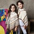 Camisola Do Inverno da menina 2016 Novos 1-8 Anos Crianças Manto Camisola Quente Casual Bebê Meninas Outono Roupas Outwear