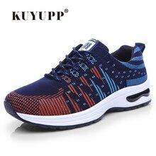 KUYUPP Brand Casual Shoes Men 2016 Fashion Striped Cotton Trainers Flat Sport Breathable Men Shoes Zapatillas Deportivas YD93