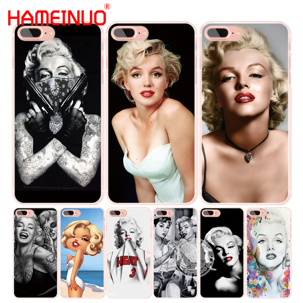 HAMEINUO Sexy Woman Marilyn monroe cell phone Cover case for iphone 6 4 4s 5 5s SE 5c 6 6s 7 8 X plus