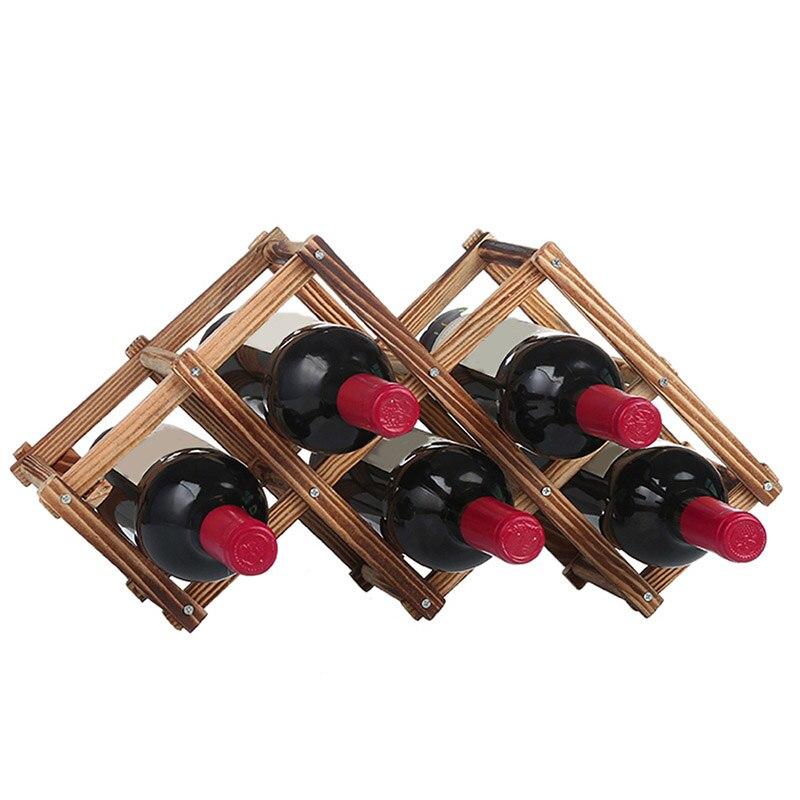 100% Waar 6/10 Wijnrek Mok Cooler Wijnrekken Houten Wijnglas Houder Vouwen Stand Display Plank Keuken Bar Benodigdheden Laat Onze Grondstoffen Naar De Wereld Gaan