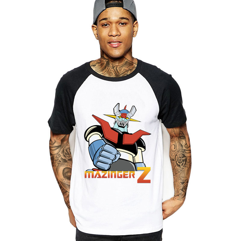 2018 Anime Japanese Mazinger Z t Shirt For Men Design Short Sleeve Fashion Custom Plus Size Cartoon Camiseta t-shirt male tshirt