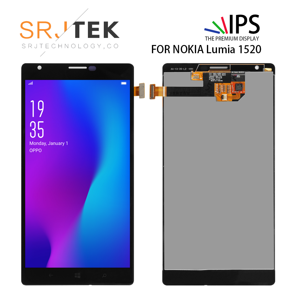 100% Original For NOKIA Lumia 1520 LCD Touch Screen with Frame For NOKIA Lumia 1520 Display Digitizer Assembly Replacement Parts100% Original For NOKIA Lumia 1520 LCD Touch Screen with Frame For NOKIA Lumia 1520 Display Digitizer Assembly Replacement Parts
