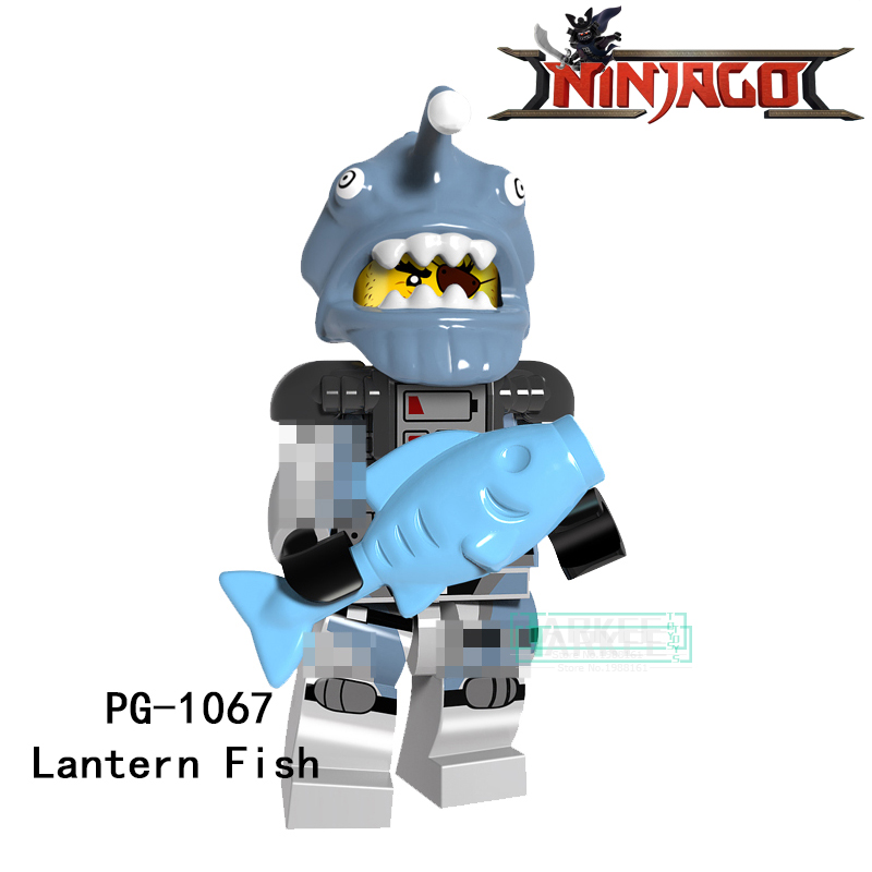 Building Blocks PG1067 Lantern Fish Lead Crab Jerry Hamer Puffer Super Hero Star Wars Bricks Dolls Kids DIY Toys Hobbies Figures building blocks firestorm captain booster cold elektra super hero starwars set bricks dolls kids diy toys hobbies pg8079 figures