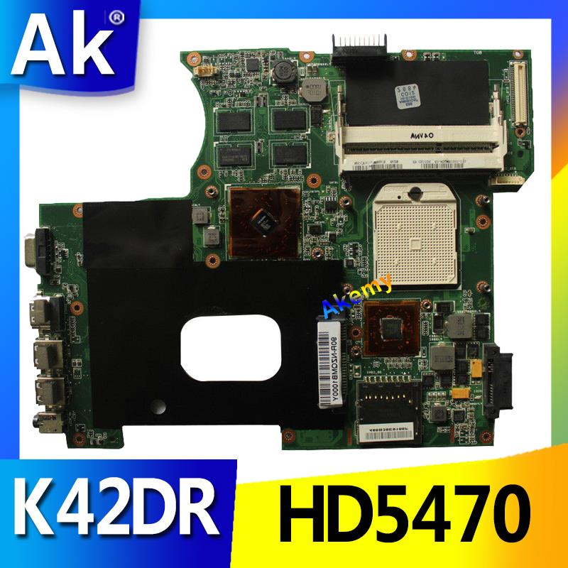 AK For ASUS K42DY A42D X42D K42DR K42D K42DE Motherboard with HD5470 Video Card