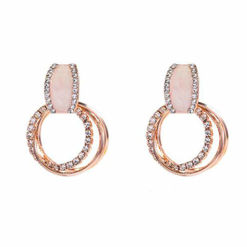 2019 new best selling geometric circle earrings female temperament simple personality female earrings wholesale