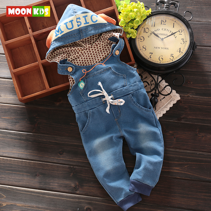 2017New Baby Boys Animal Bib Pants Infant Jumpsuit Kids Overalls With Hoodies Children Lovely Clothes For Spring Autumn girls jeans overalls for girl denim 2017 spring pocket jumpsuit bib pants children s hole jeans baby overall for kids 3 12 years