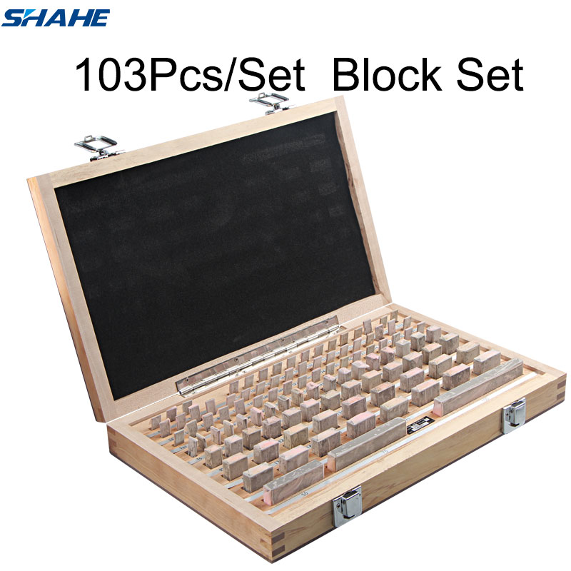 shahe Block Gauge 103Pcs Set 1 grade 0 grade Caliper Block gauge Inspection Block Gauge Measurement