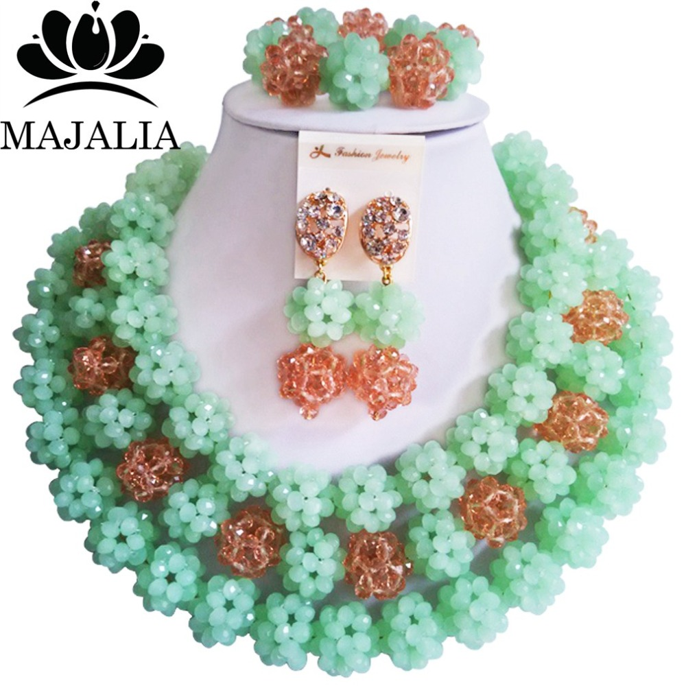 Fashion african wedding beads Mint Green nigerian wedding african beads jewelry set Crystal Free shipping Majalia-307 велосипед giant trinity composite 2 w 2014 page 5
