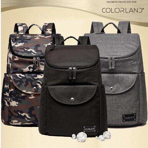 COLORLAND sac à langer Camouflage sac à langer papa maman nouveau Design sac à couches Durable bébé sacs pour poussette bébé sac à langer ensemble de tapis