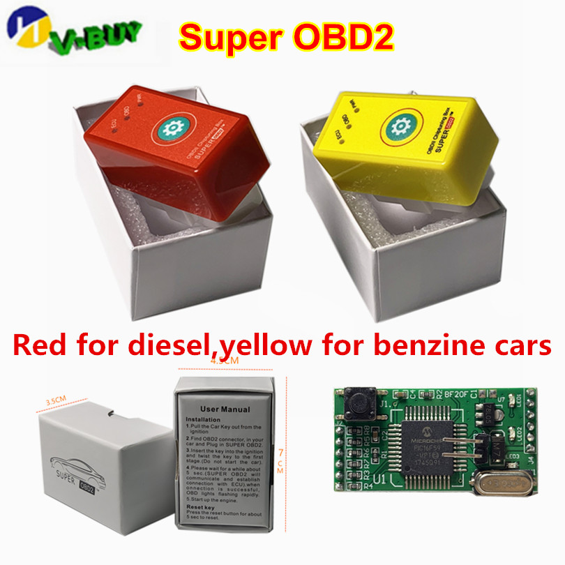 Super OBD2 Car Chip Tuning Box Plug And Drive More Torque As Nitro OBD2 Benzine Diesel NitroOBD2