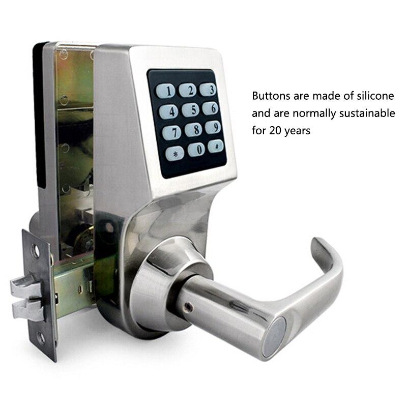 Mot de passe électronique serrure de porte avec clavier numérique télécommande RFID clé déverrouiller serrure intelligente porte en bois