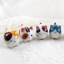 China Jingdezhen Specialty Supper Cute Kawaii Ceramic 3D Lifelike Cat Kitty Home Decor Decoration Crafts Figurines Miniatures