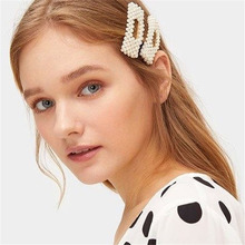 2019 1PC Fashion Pearl Hair Clip Trend Handmade Beaded Hairpin Womens Large Gold Accessories Jewelry Gifts