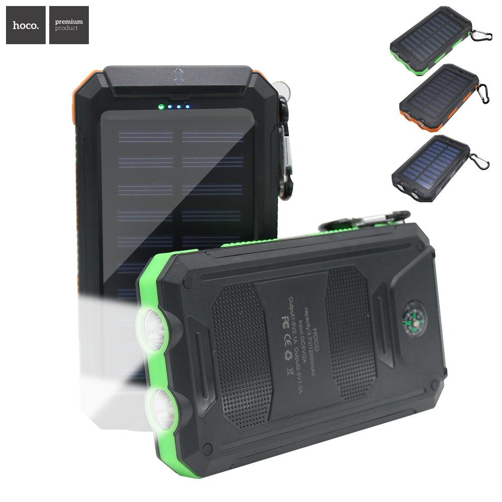 HOCO powerbank Banco de la Energía Solar Cargador de batería Universal Portátil
