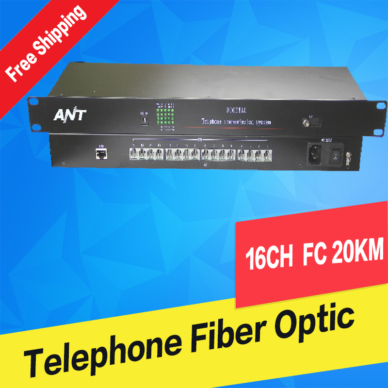 16Ch PCM Voice Telephone Fiber Optical Media Converter With Ethernet FC Single mode 20Km High Quality