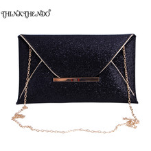 Фотография New 1Pc New Women Glitter Sequins Handbag Evening Party Envelope Clutch Bag Wallet Purse