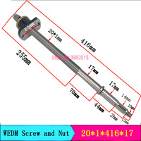 WEDM Complete Ball Screw and Nut 20*1*416*17mm for Wire Cutting Machine