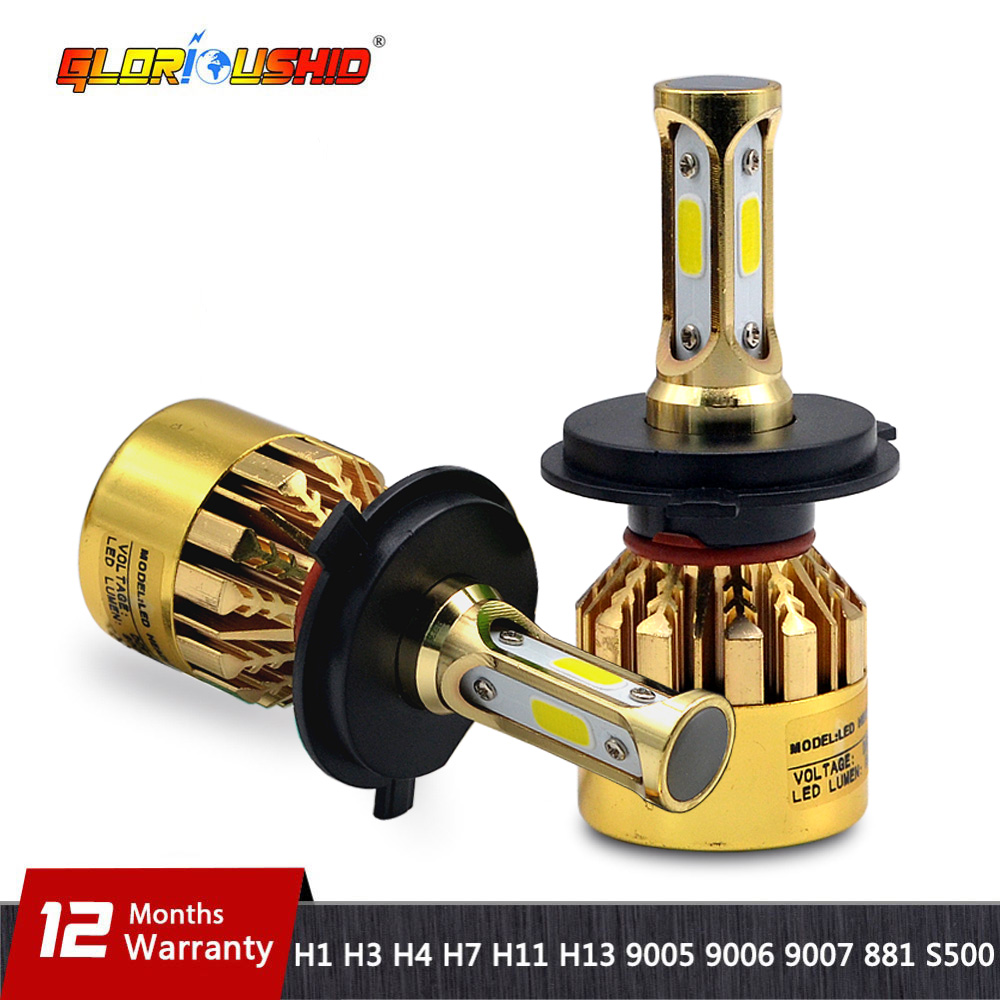 H7 LED H4 H11 H8 H9 H1 H3 H13 9005 HB3 9006 HB4 9007 881 Voiture LED Phare 72 w 8000LM Auto lumière Brouillard Lampe Ampoule 6500 k Blanc Pur