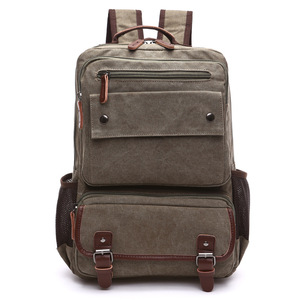 Image 2 - Unisex Vintage Rucksack Männer Reisetaschen Leinwand Tasche Mochila Masculina Laptop Rucksäcke Frauen Schule Tasche für Teenager Zurück Pack