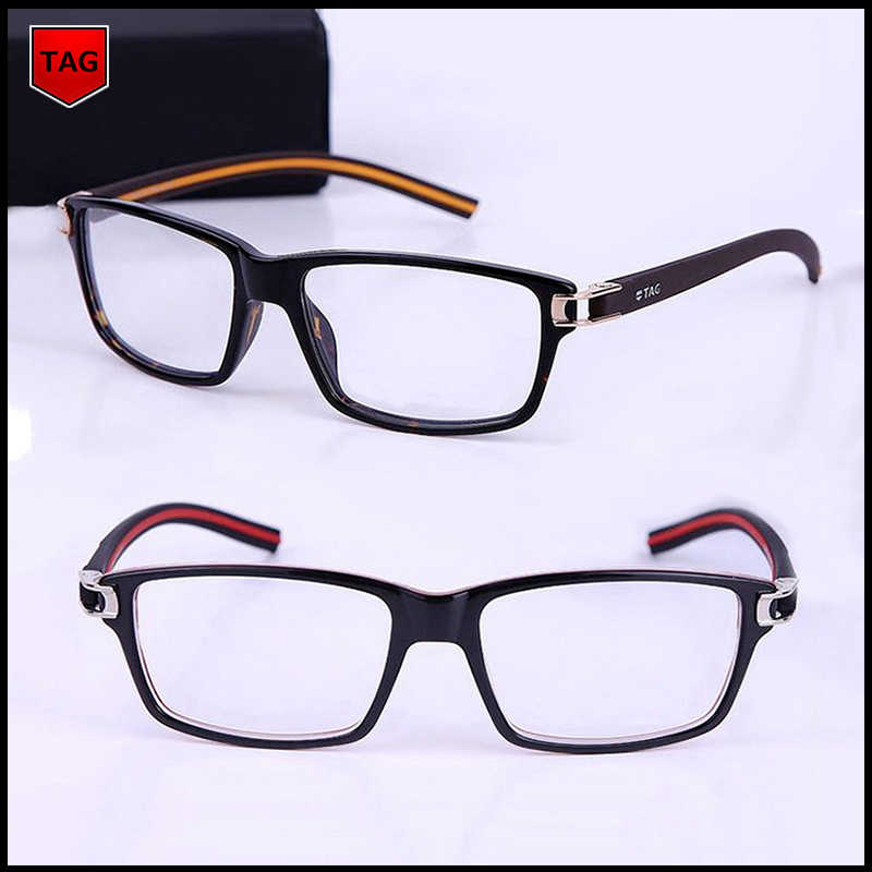 060de4b9f00 2018 Retro glasses frame TAG brand designer fashion star style TR90  computer vintage spectacle frames optical