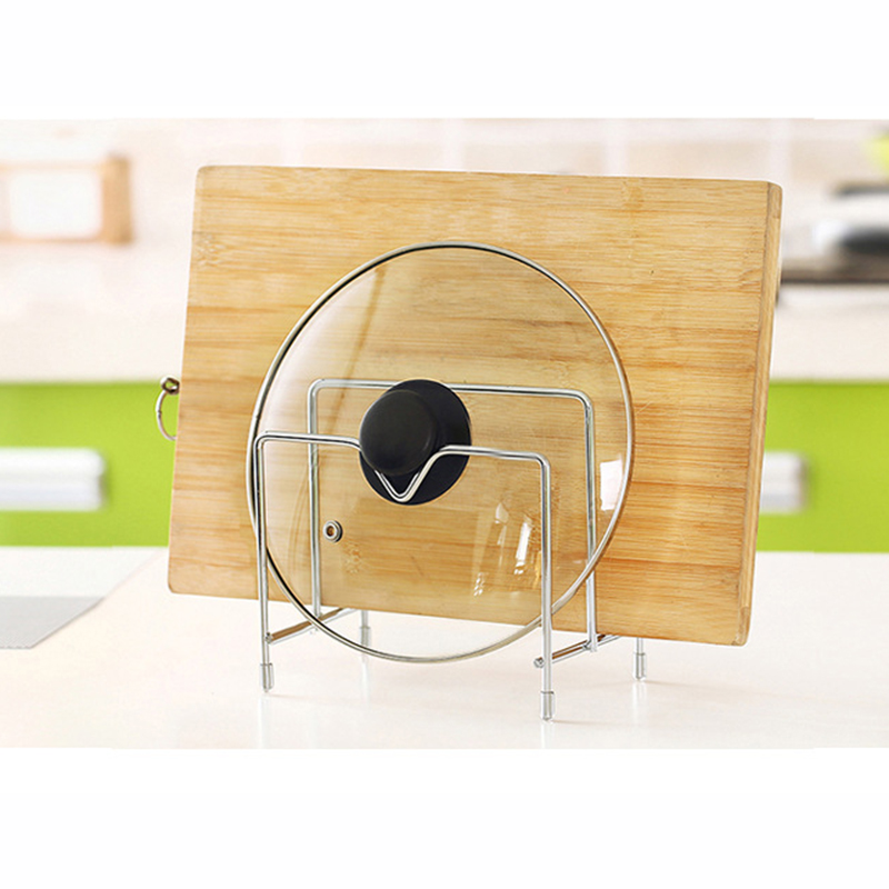 2 Tier Kitchen Stainless Steel Dish Rack Kitchen Storage Rack Pot Lid Rack Cutting Board Holder Storage Cover Stand