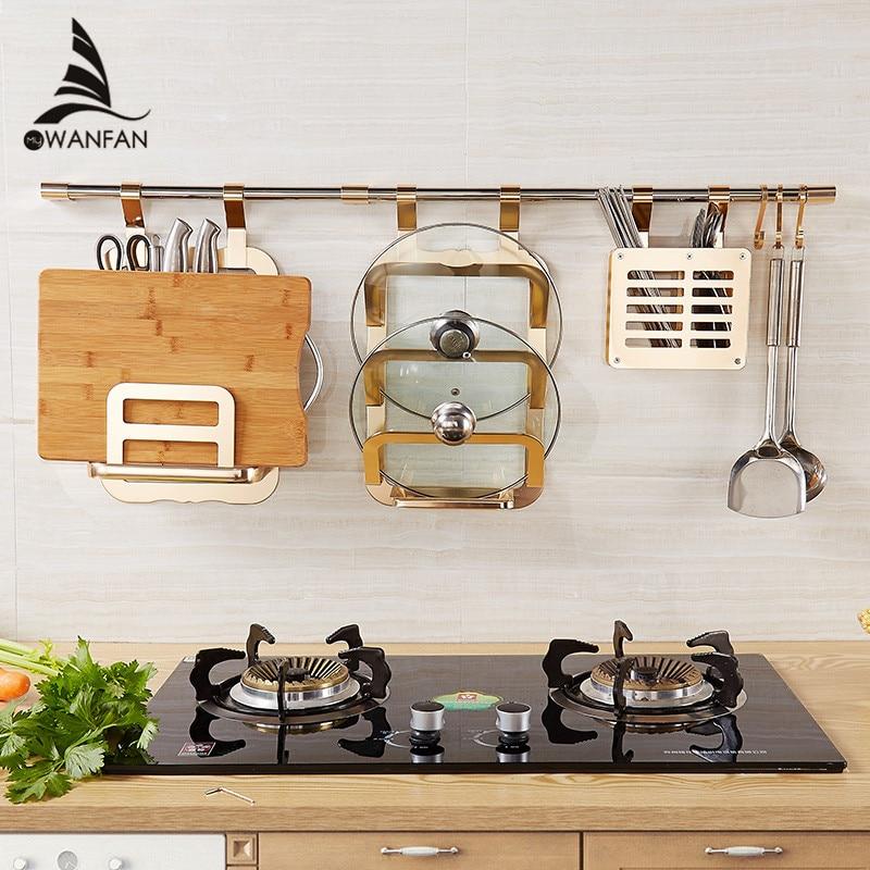 Здесь можно купить  Wall shelf Kitchen Storage Rack Including Double Flavoring Rack Chopstick Holder pot cover shelf chopping board shelf YG-T986K  Строительство и Недвижимость