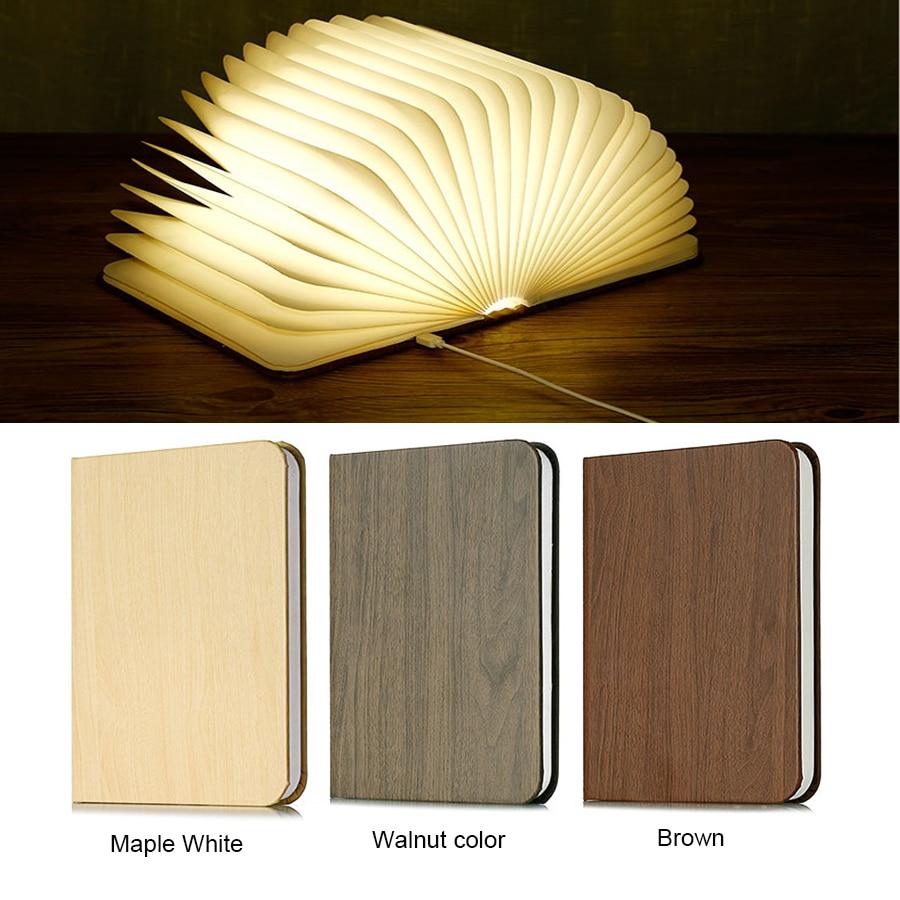 Book Light USB Led Lamp Book Rechargeable Warm White LED  Folding Mini Book Shape Light Desk Night Lamp For Living Room